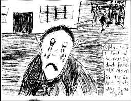 dibujo infantil de violencia doméstica